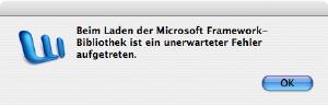 Office Mac Framework Fehler